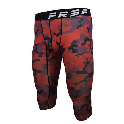 PRSP TIGHTFIT 3/4 LEGGINGS [ARMY RED]