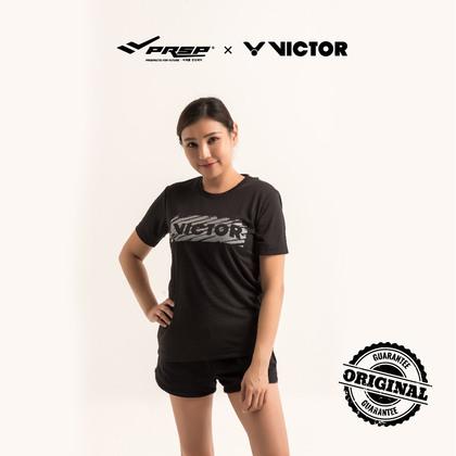 [VICTOR] UNISEX TRANNING R.NECK T-SHIRT (BLACK/TONE BLACK)