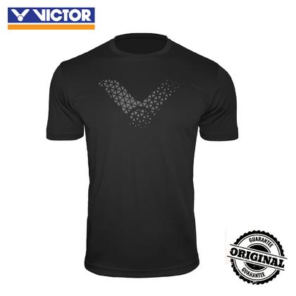 [VICTOR] UNISEX TRANNING R.NECK T-SHIRT (BLACK/GREY)